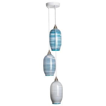 Beehive Pendants | mixed colours triple unlit