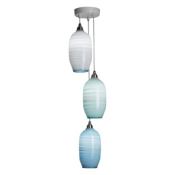 Beehive Pendants | pale mixed colours triple lit