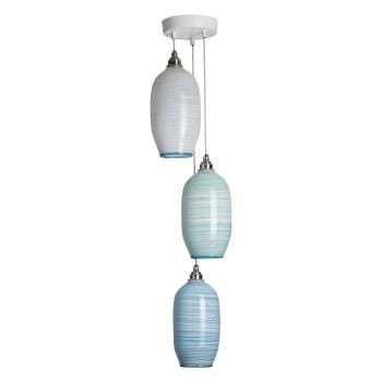 Beehive Pendants | pale mixed colours triple unlit
