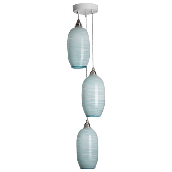 Beehive Pendants | celadon triple unlit