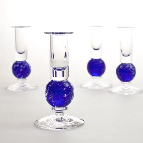 Stellar candlesticks   cobalt pair