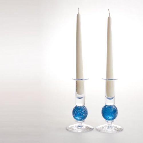 Stellar candlesticks | turquoise pair