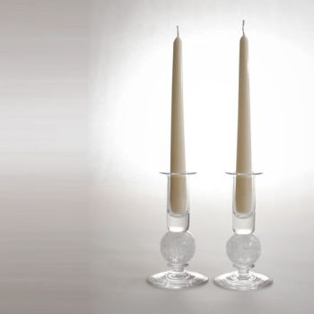 Stellar candlesticks   clear pair