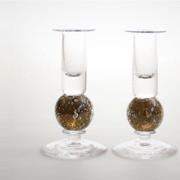 <!-- 008 -->Stellar Candlesticks   olive pair