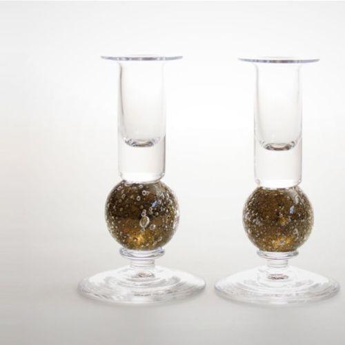 Stellar candlesticks   olive pair