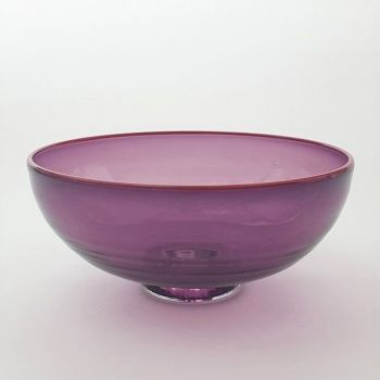 Zest Bowl | purple with trailed red glass rim