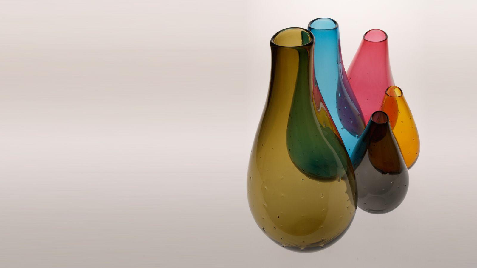Stewart Hearn Hand Blown Glass Pollen Vases - Petite, Small, Medium & Large