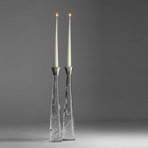 Zephyr Candlesticks | tall pair