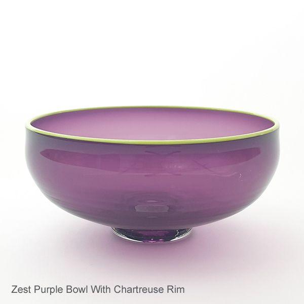 <!-- 003 -->Zest Bowl | purple with trailed rim