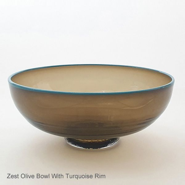 Zest Bowl | olive with trailed rim