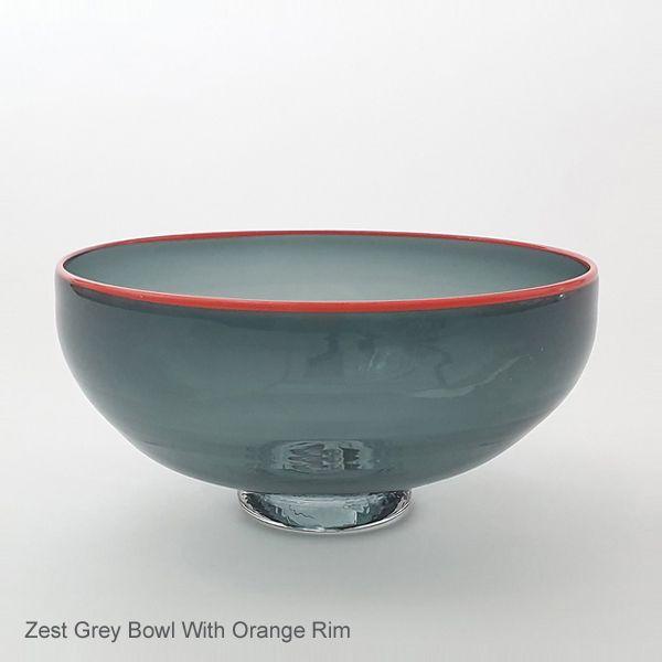 <!-- 001 -->Zest Bowl | grey with trailed rim