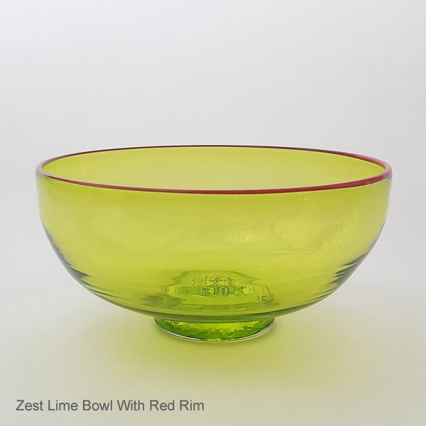 <!-- 005 -->Zest Bowl | lime with trailed rim