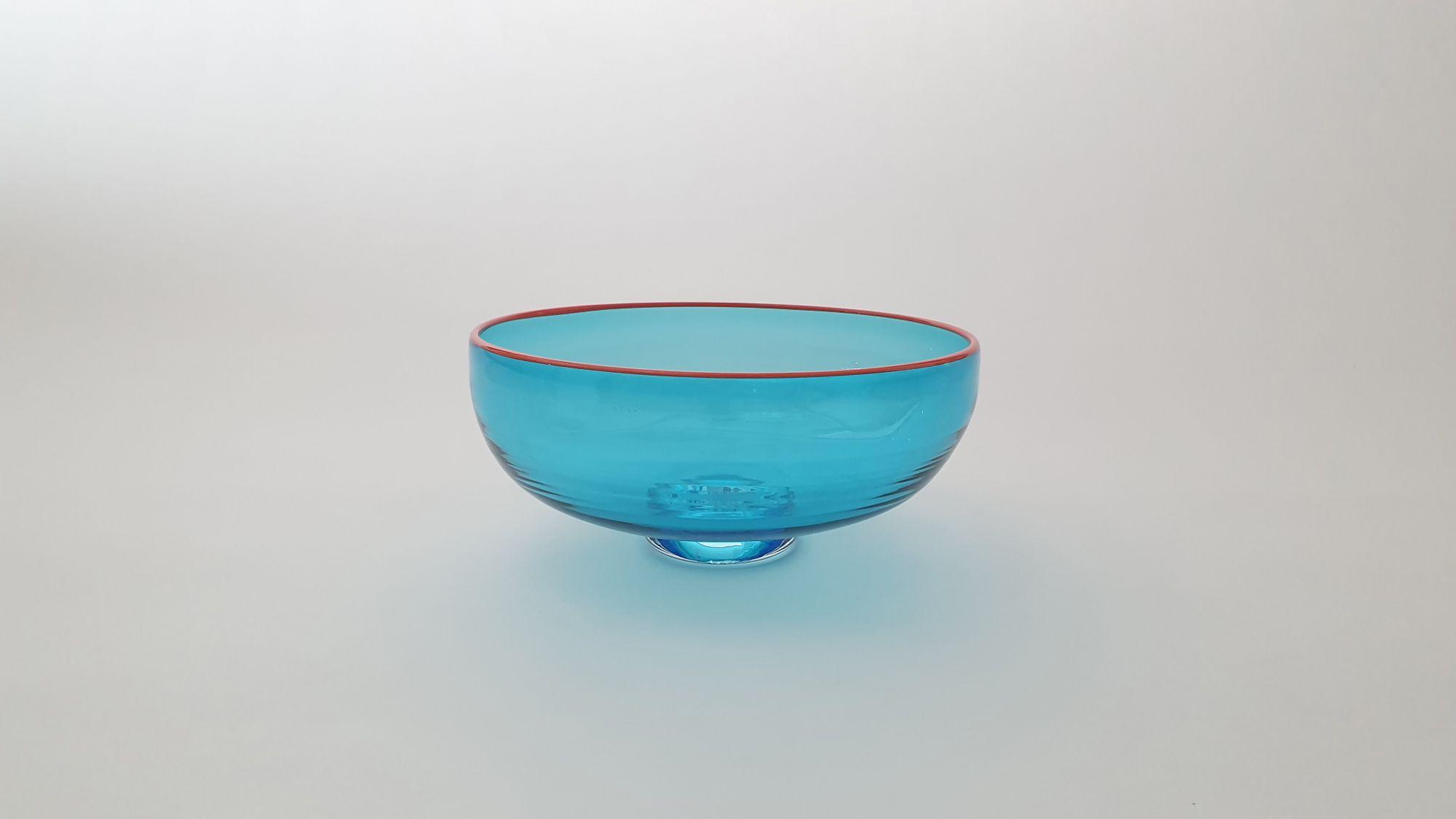 Zest Bowl | blue w, orange rim