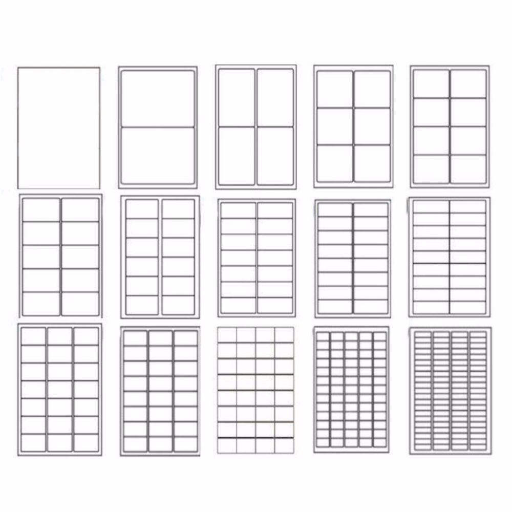 Sheet Labels A4