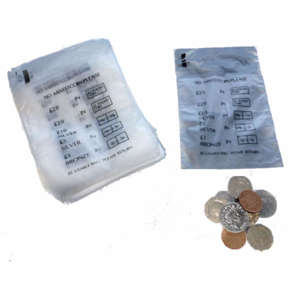 Coin Money Bags - Sterling GBP
