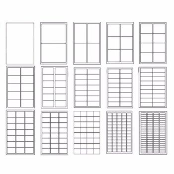 White Labels A4 Sheets - Various