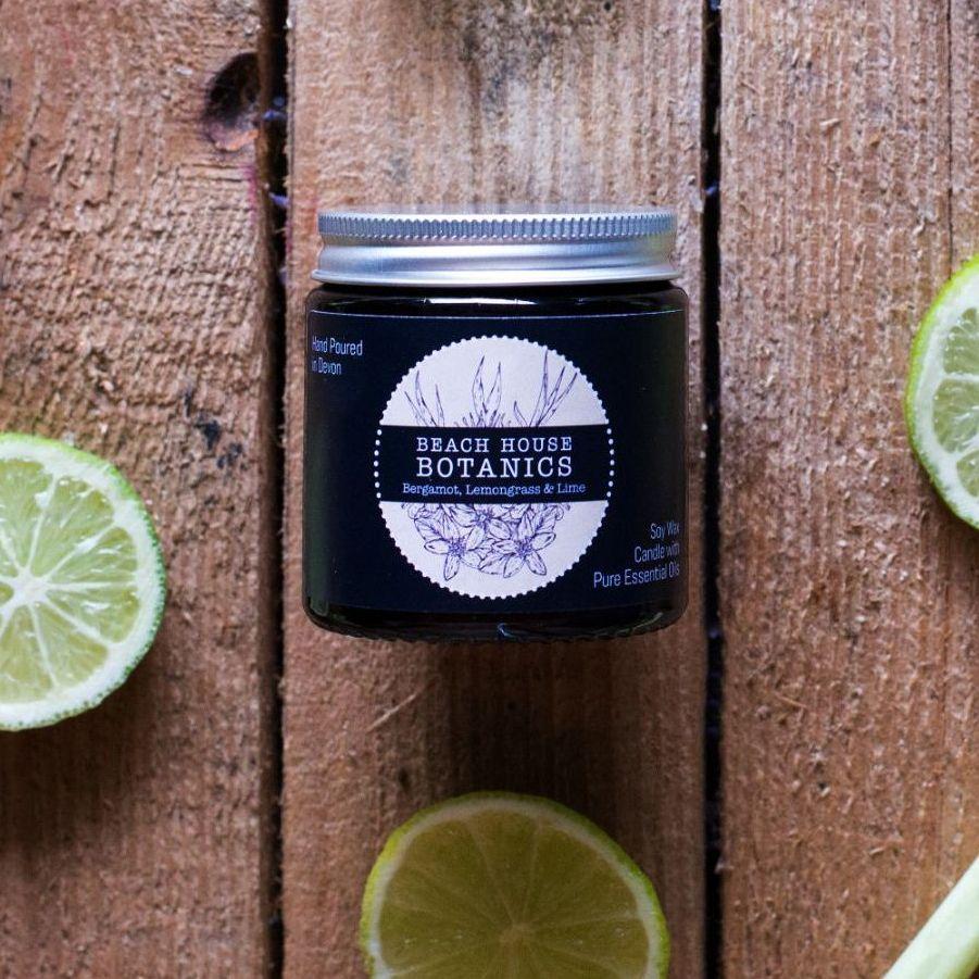 Bergamot Lemongrass & Lime Small Amber Jar 120ml