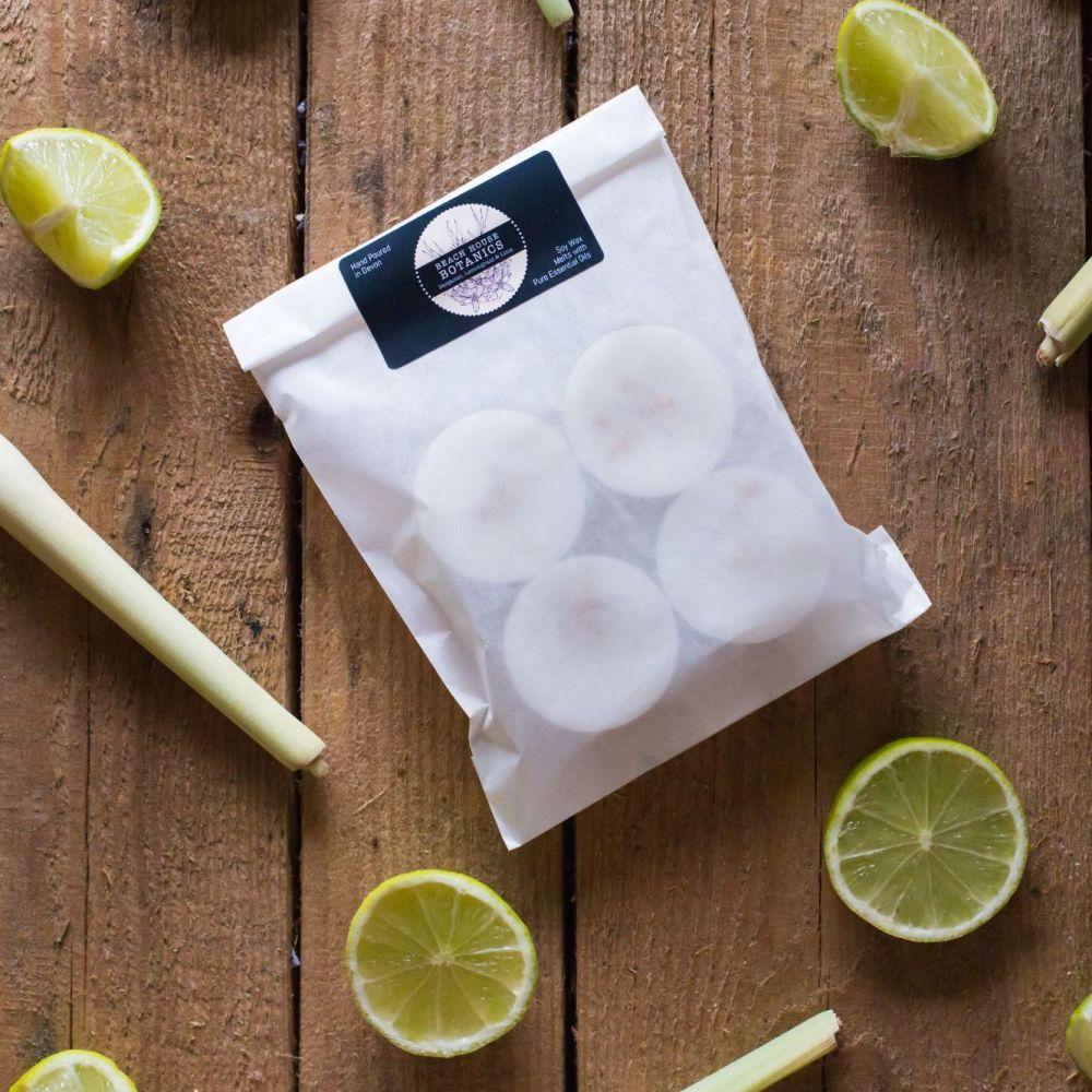 Bergamot, Lemongrass & Lime Soy Wax Melts (Pack of 4)