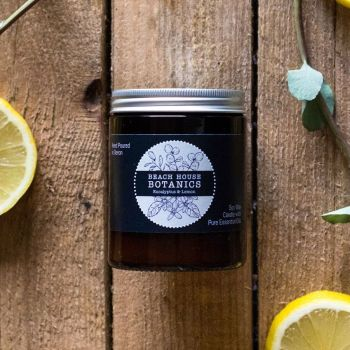 Eucalyptus & Lemon Medium Amber Jar 180ml