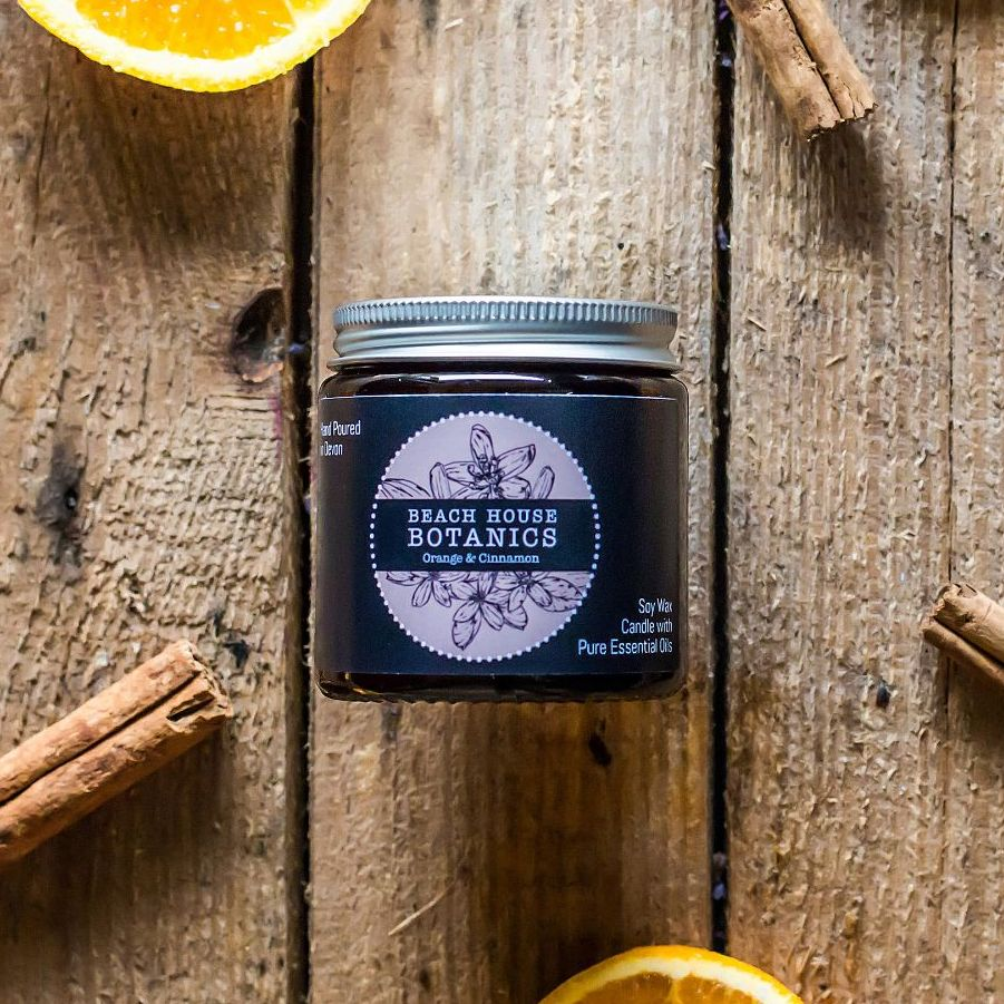 Orange & Cinnamon Small Amber Jar 120ml