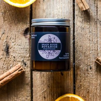Orange & Cinnamon Medium Amber Jar 180ml