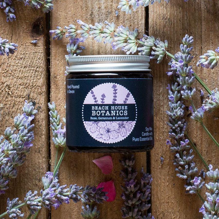 Rose Geranium & Lavender Small Amber Jar 120ml