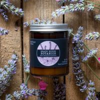 Rose Geranium & Lavender Medium Amber Jar 180ml