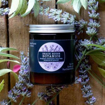 Bergamot, Chamomile, Sage, Geranium & Lavender Medium Amber Jar 180ml