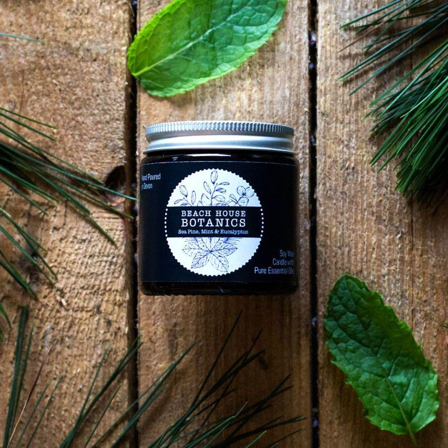 Sea Mint, Pine & Eucalyptus Small Amber Jar 120ml