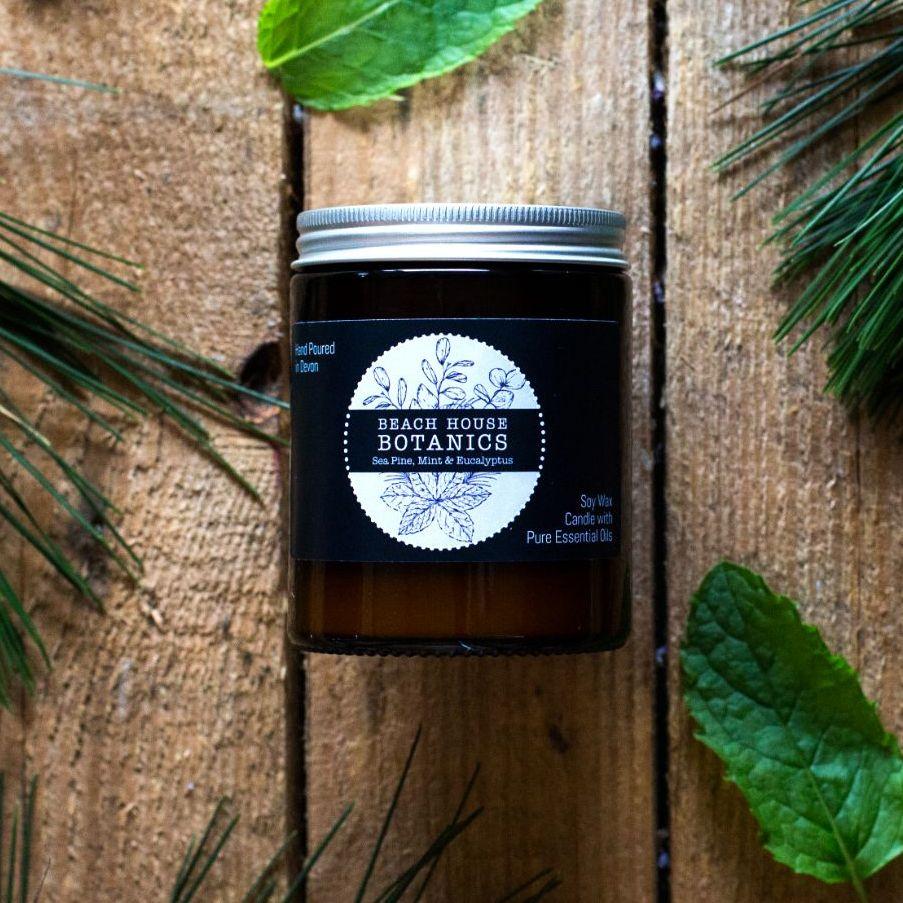 Sea Mint, Pine & Eucalyptus Medium Amber Jar 180ml