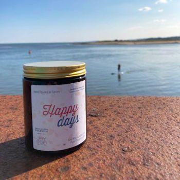 Happy Days Medium Amber Jar Candle 180 ml