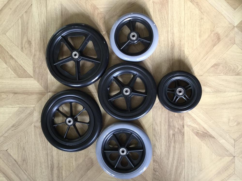 Nylon wheels with Urethane tread