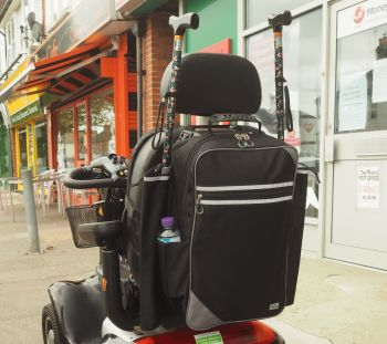 MyWren large Mobility Scooter bag with crutch/stick holders