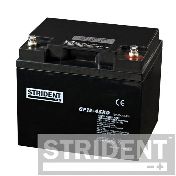 Pair of Strident 12 Volt 45 Ah AGM Batteries