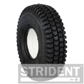 Pair of 3.00 x 4 Black Block puncture proof tyre