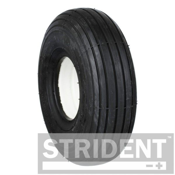 2 x 3.00 - 4 Black rib puncture proof tyres