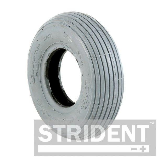Grey Pneumatic 260 x 85 (3.00-4) Rib Tyre