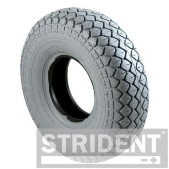 Pair of Grey Pneumatic 330 x 100 (4.00-5) Diamond Block Tyre