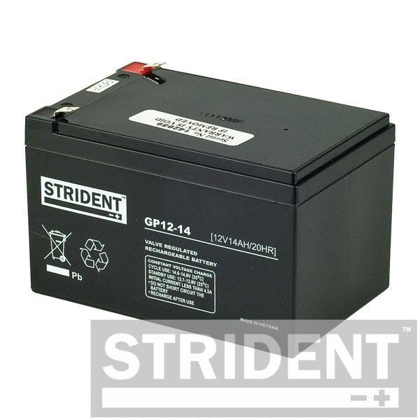 Heavy duty Strident 12 volt 14 Ah batteries (pair)