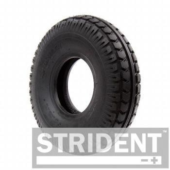 Heavy duty 4.00 x 5 (330x100) black pneumatic tyre block tread