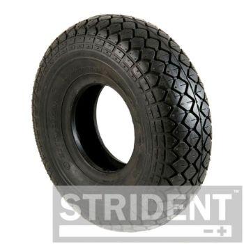 Pair of  4.00 x 5 (330 x100) black diamond block tyres