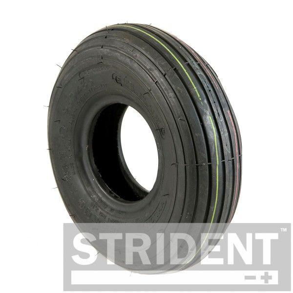 3.00 x 4 (260 x 85) black rib pattern tyre