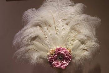 Marie Antoinette Ostrich Feather Fan Wedding Bouquet