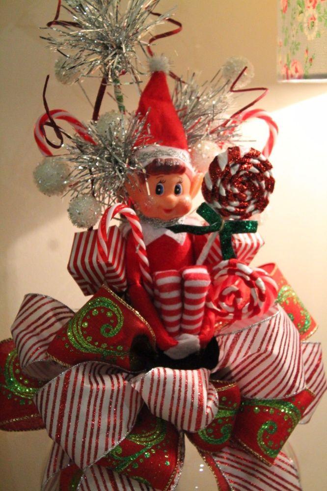 Elf Christmas Tree Bow Topper