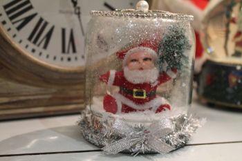Santa Dry Snow Globe Jar