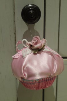 Shabby Chic Cupcake Christmas Tree Ornament
