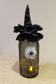 Halloween Witches Eye Jar