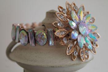 Wedding Crystal Brooch Flower wrist corsage