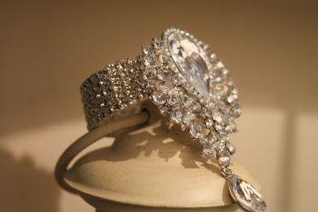 Wedding Crystal Brooch Silver wrist corsage