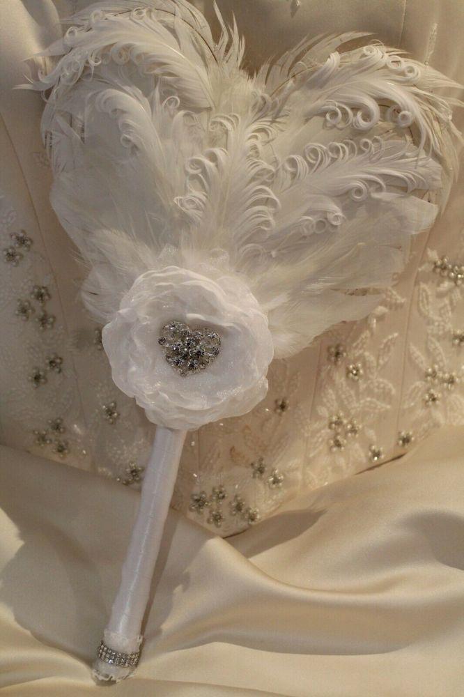 Heart Feather Wedding Bouquet